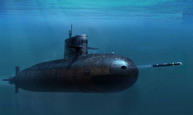 sub armura subțire submarin)