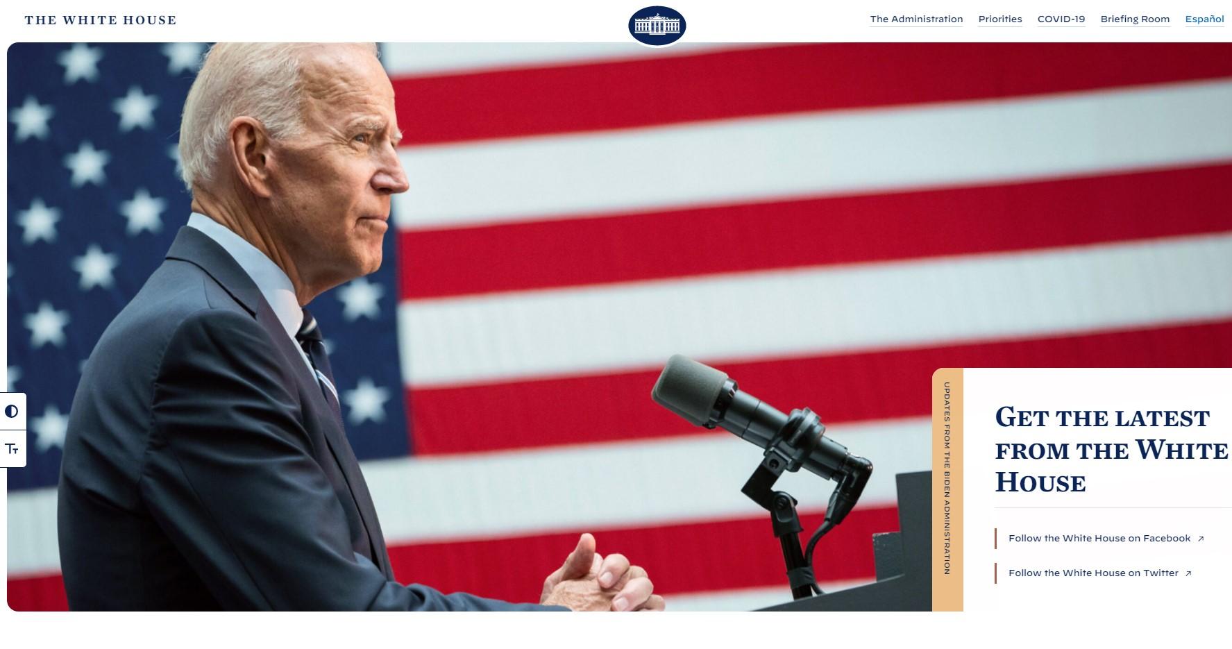 Mesajul ascuns de Biden în codul site-ului relansat al Casei Albe
