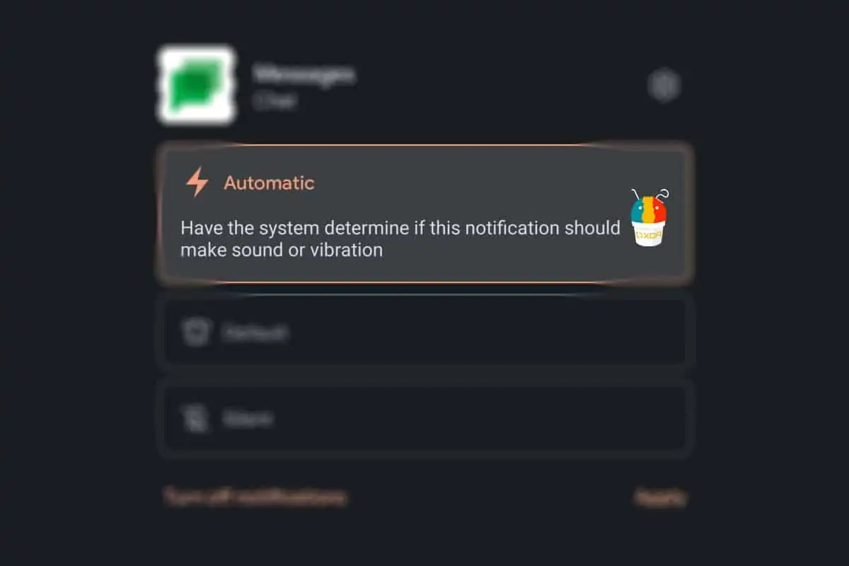 Automatic sound Android 12