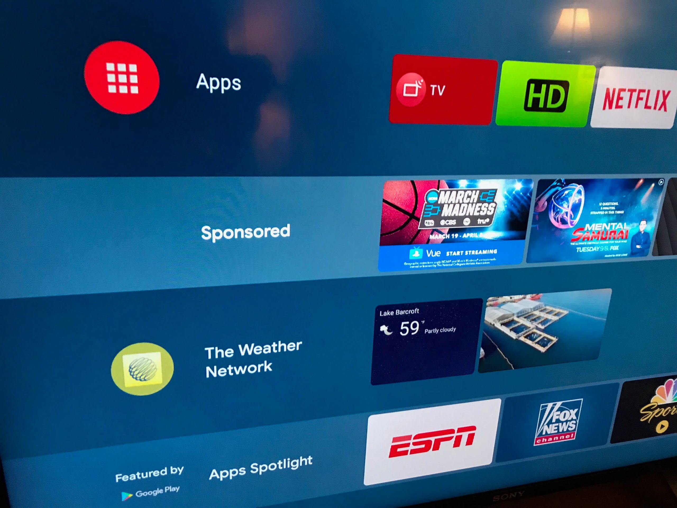 android tv smart tv reclama