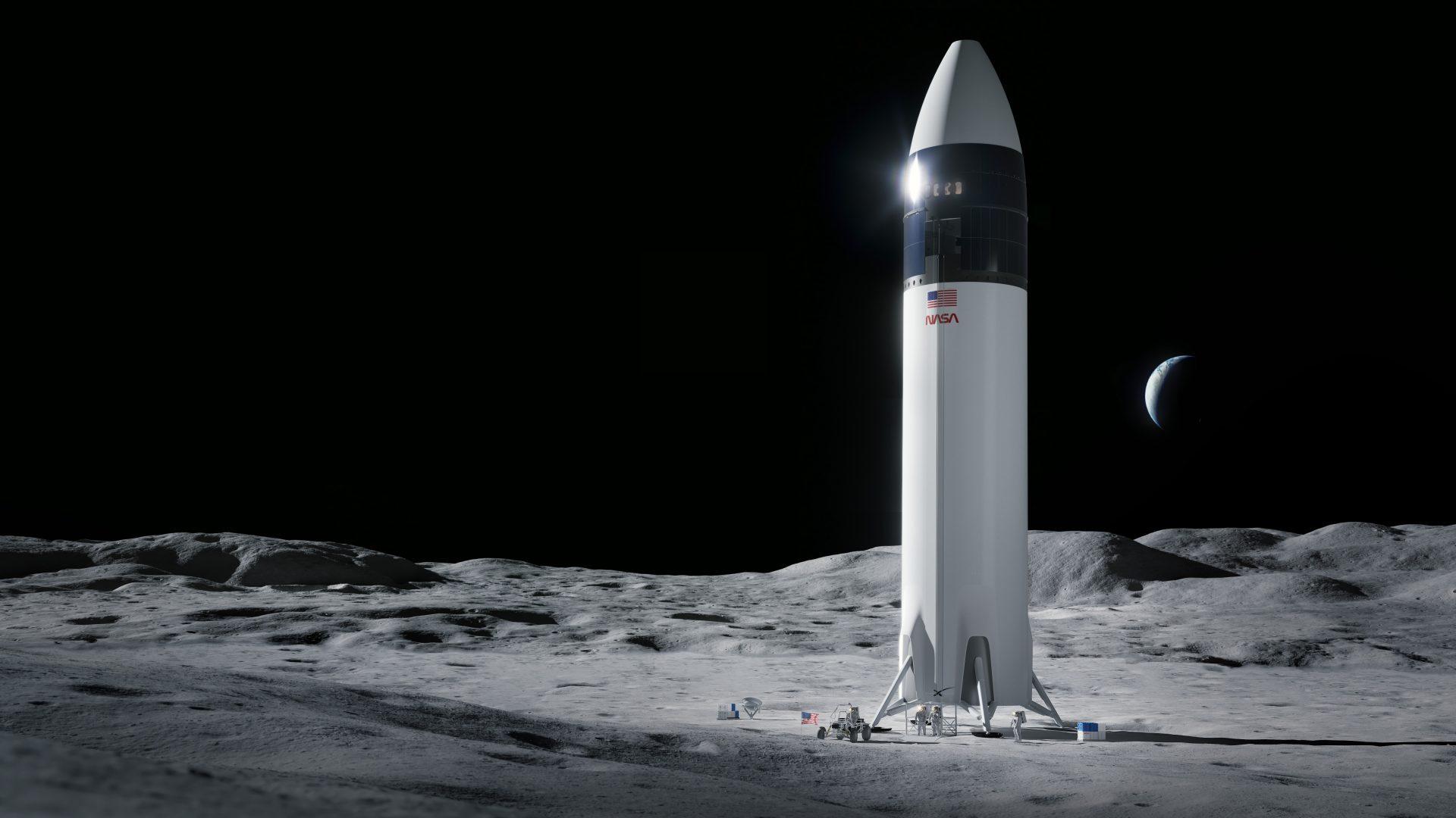 SpaceX a câștigat un contract NASA pentru a trimite oameni pe Lună