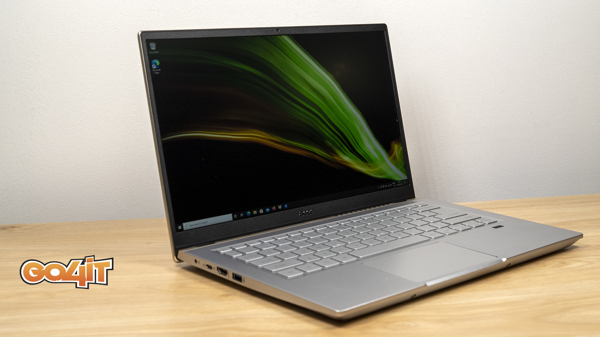 Acer Swift X front side
