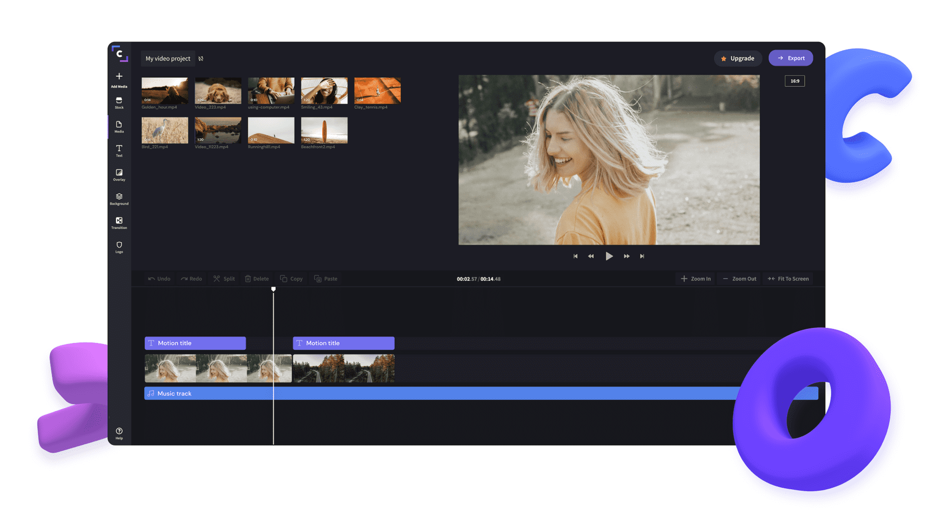 editare video clipchamp