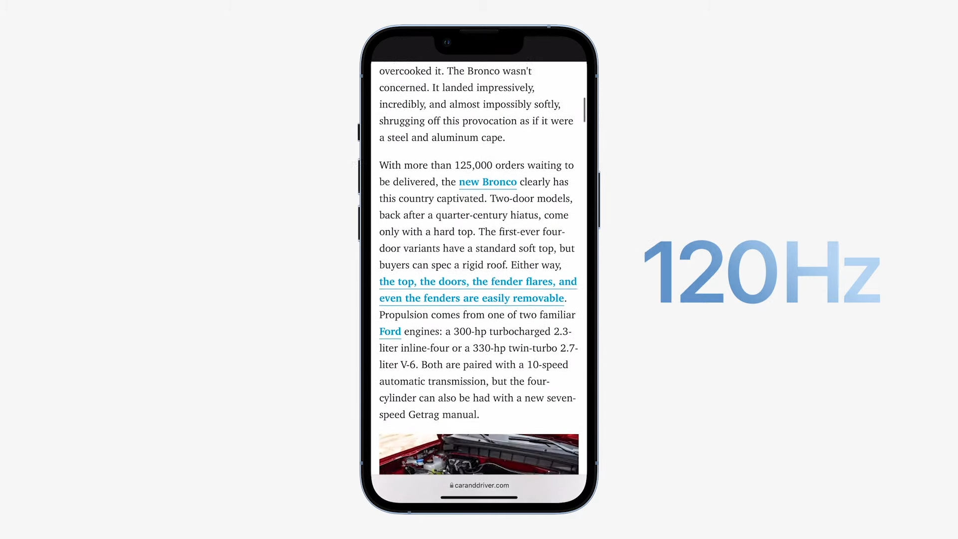 iPhone 13 Pro 120hz