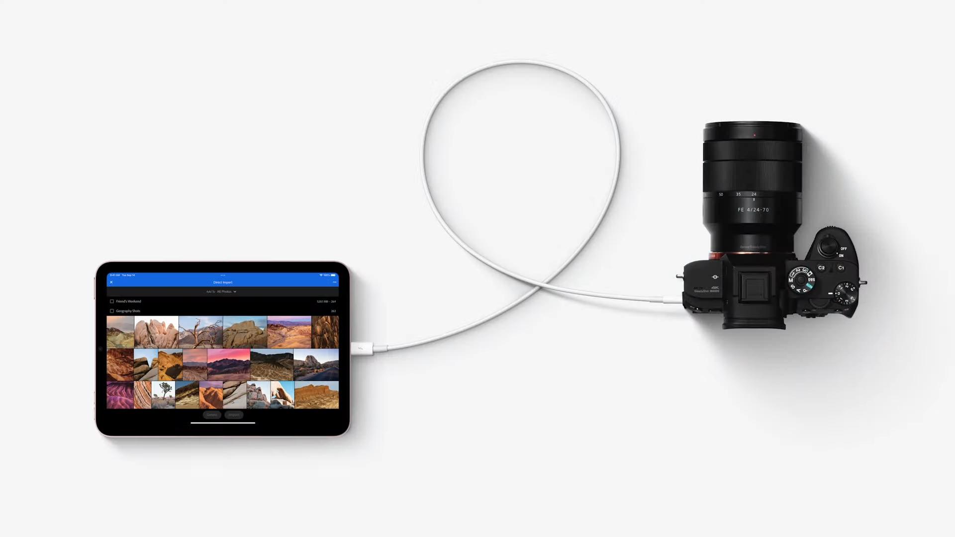 ipad mini usb camera